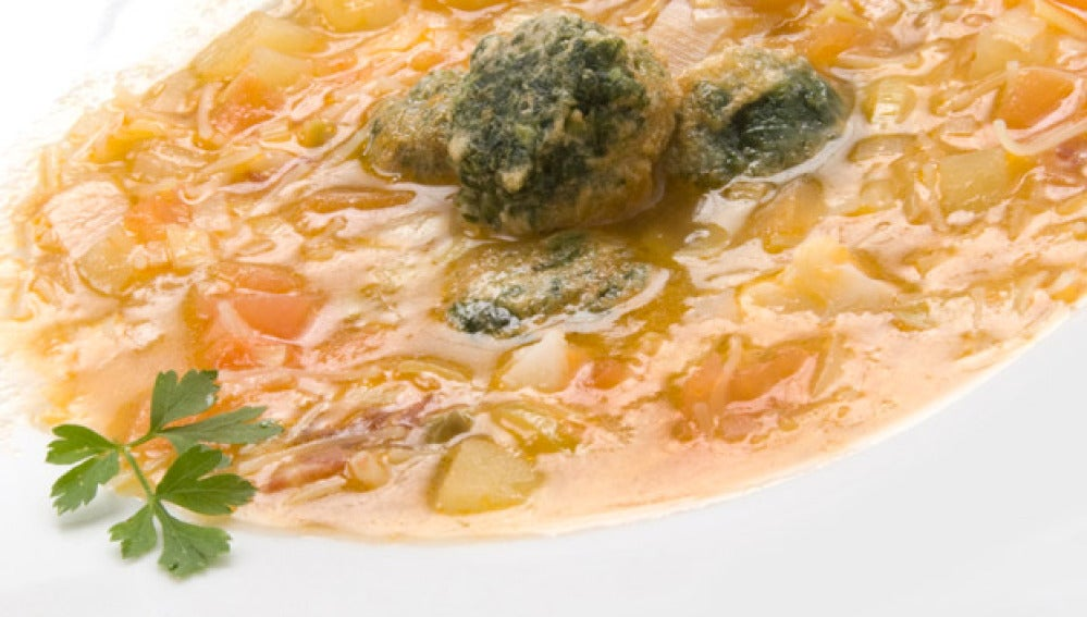 Sopa de verduras con toque