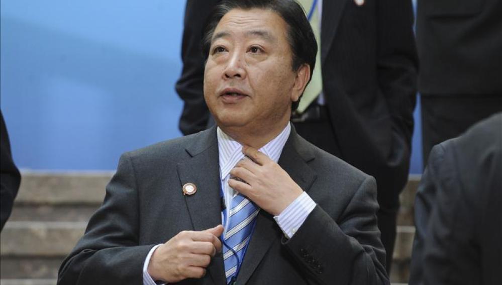 El ministro japonés de Finanzas, Yoshihiko Noda
