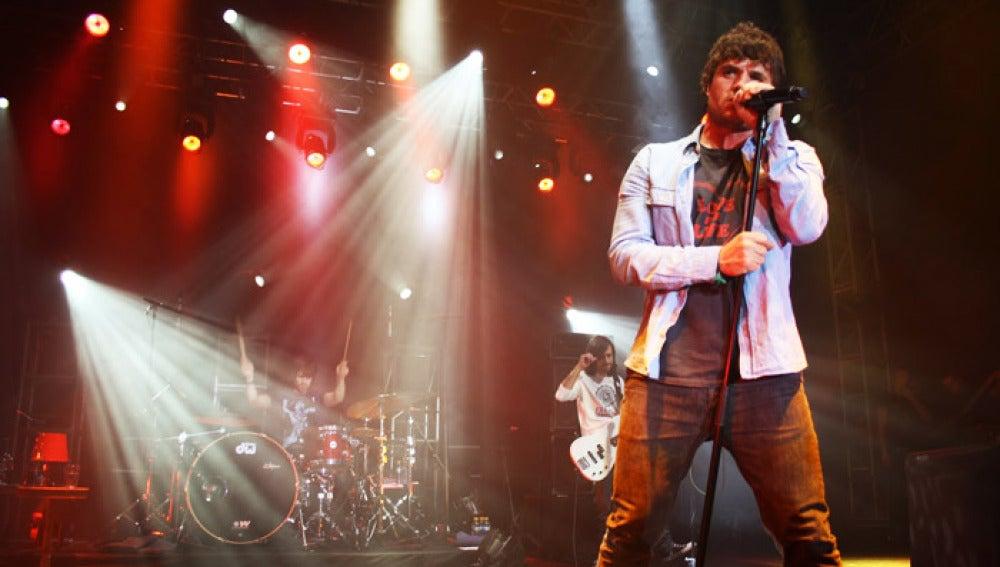 El cantante Dani Martín durante una actuación.