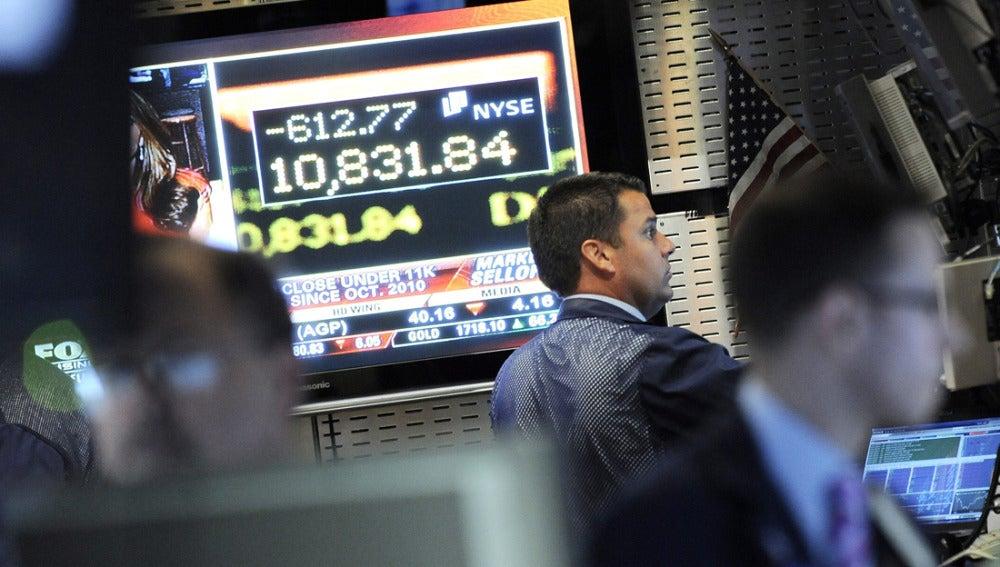 Cotización en Wall Street (Nueva York)