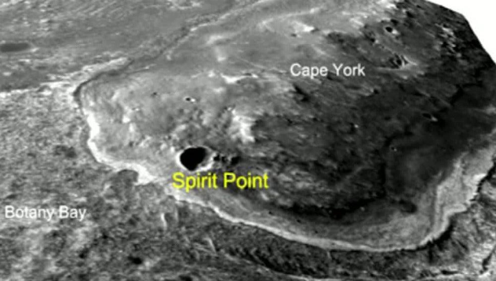 Un robot de la NASA descubre un gigantesto cráter en Marte