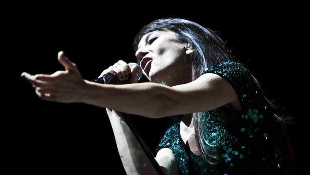Eva Amaral, durante su actuación en la última jornada del festival Sonorama