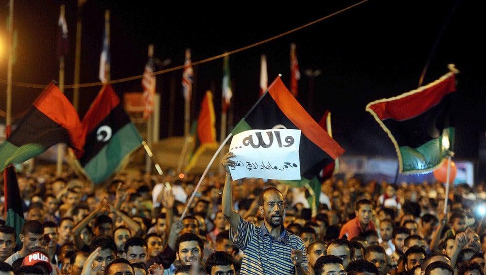 Manifestación en Bengasi (archivo)
