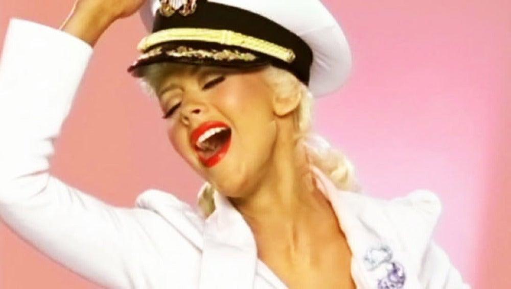 Christina Aguilera en uno de sus videoclips