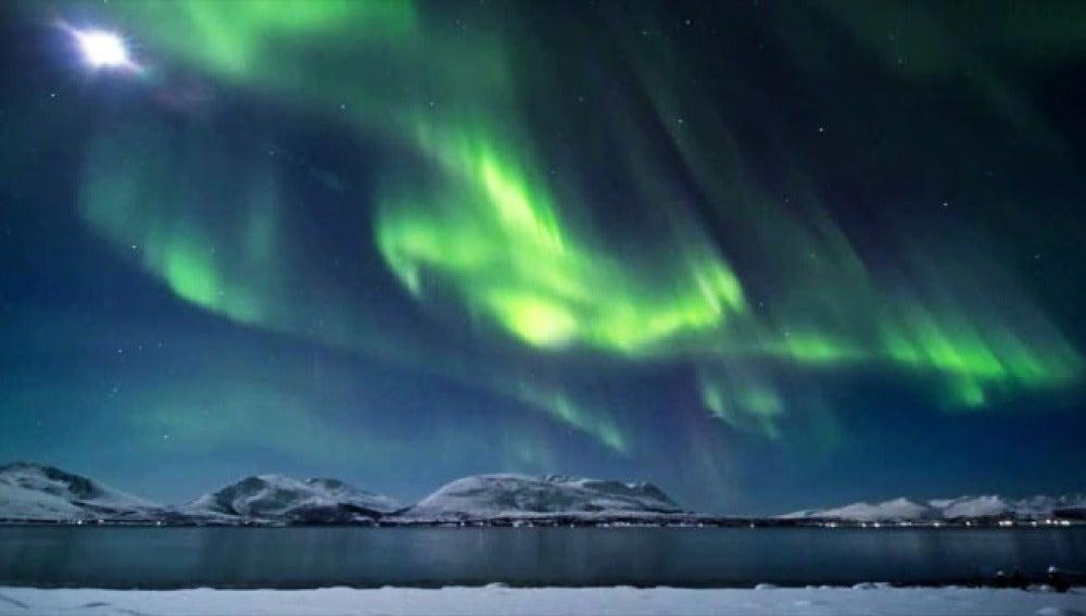 Auroras boreales por internet desde Groenlandia