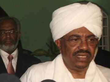 Omar Al Bachir en Jartum, presidente sudanés