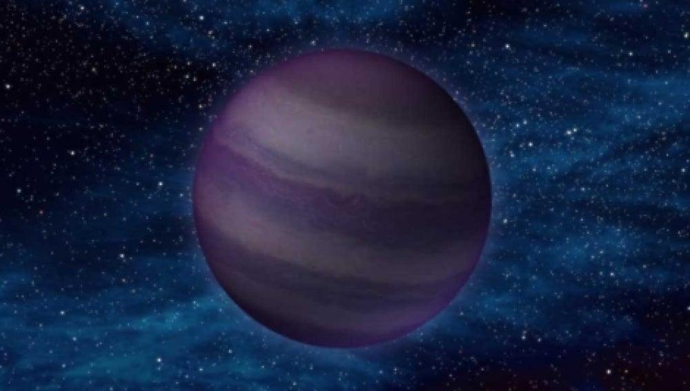 Recreación de una estrella fría descubierta por la NASA