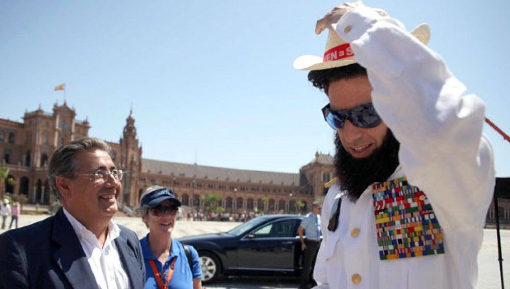 Borat ya rueda en Sevilla