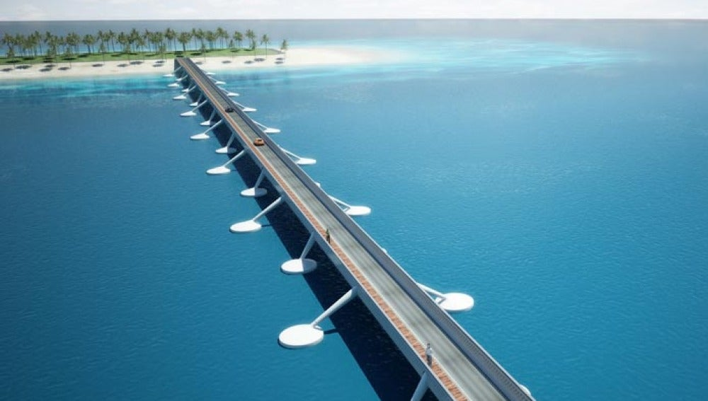 El puente flotante