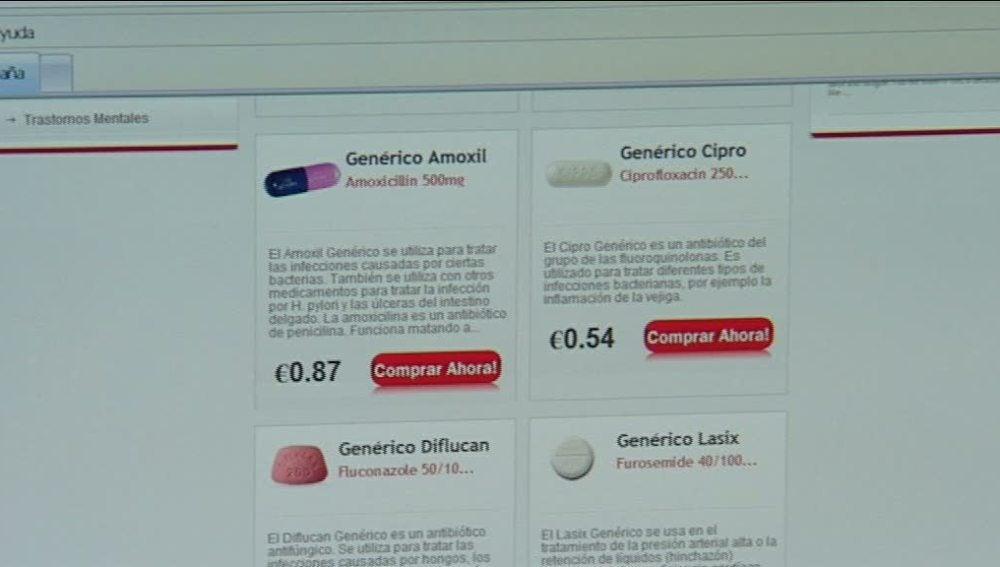 Compra de fármacos por internet