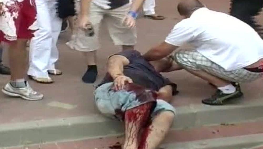 Herido un joven al ser empitonado por una vaquilla
