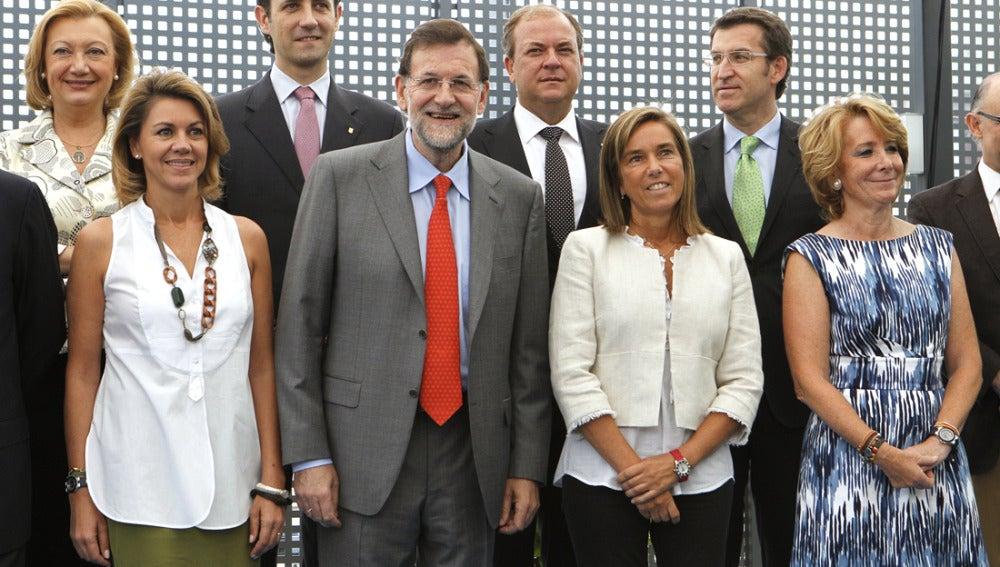 Rajoy junto a algunos integrantes de la Junta Directiva