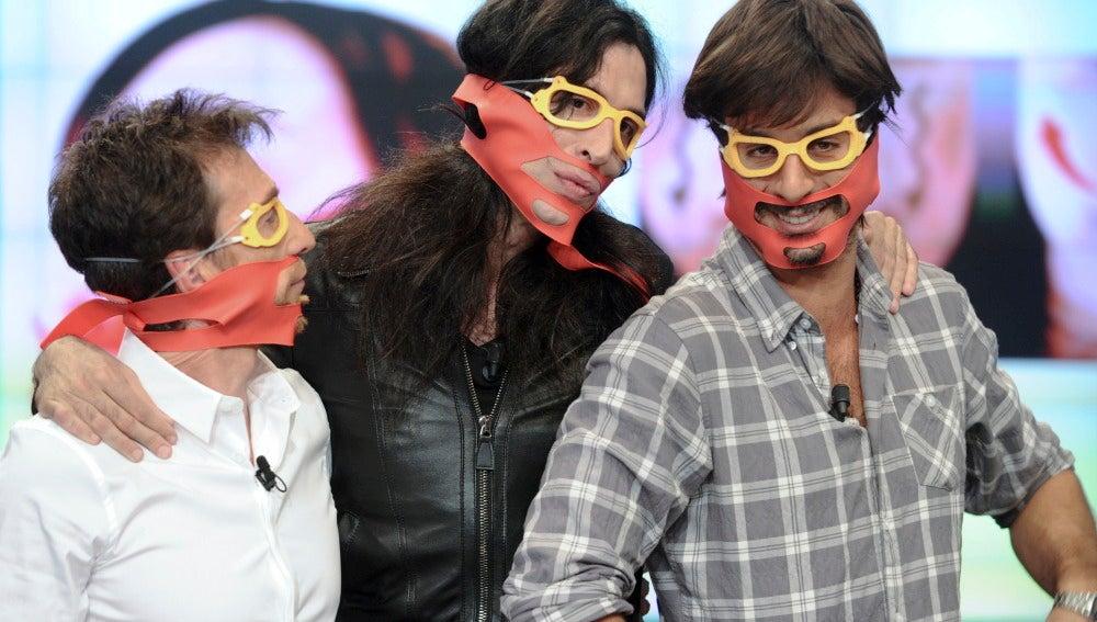 Pablo Motos, Mario Vaquerizo y Hugo Silva