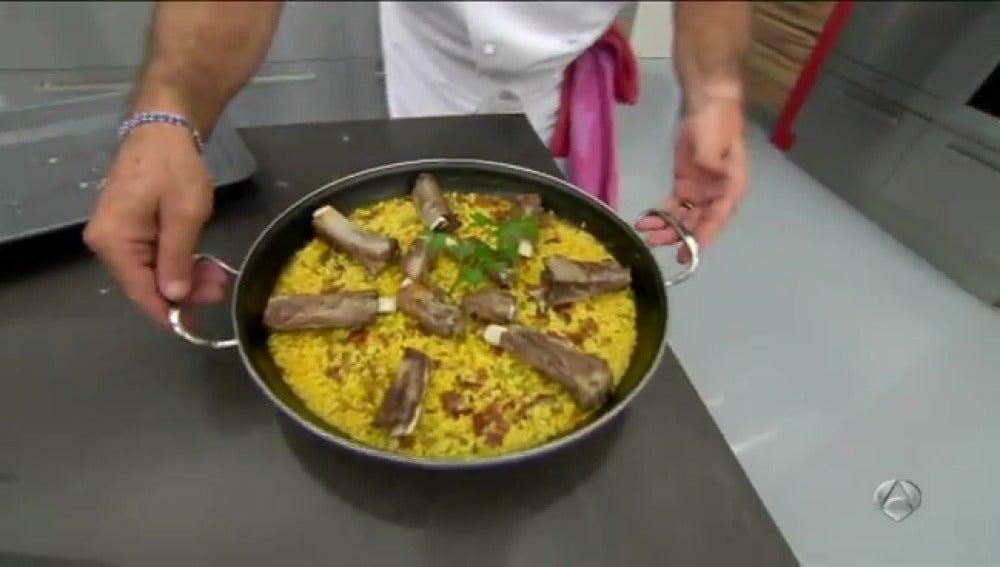 Arroz con verduras y costilla de cerdo - Parte 1
