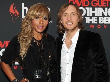 David Guetta junto a su esposa Cathy