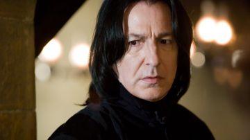 El miedo del profesor Snape está muy representado por la blancura de su rostro