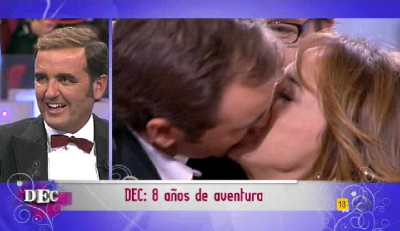 El beso de los periodistas