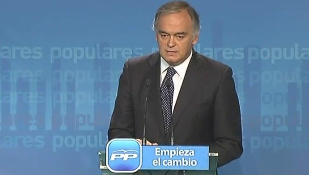 González Pons, durante la comparecencia