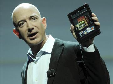 El fundador y consejero delegado de la tienda por internet Amazon, Jeff Bezos