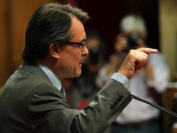 Artur Mas en el Parlamento catalán