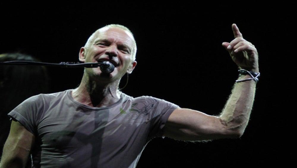 El cantante Sting durante un concierto.