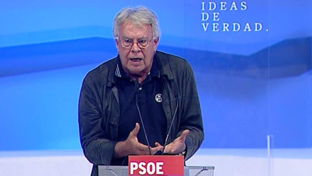 Felipe González en el congreso del PSOE