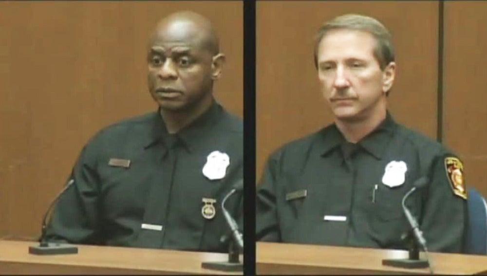 Imagen de los dos enfermeros que atendieron a Jackson.