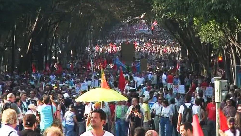 Manifestación en Lisboa.