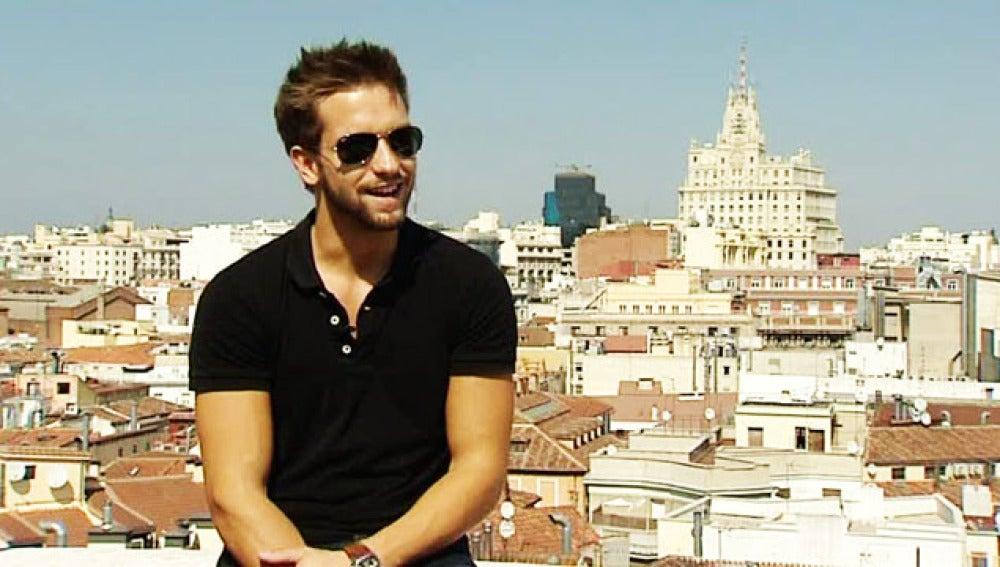 Pablo Alborán durante la entrevista que concedió a Antena 3.