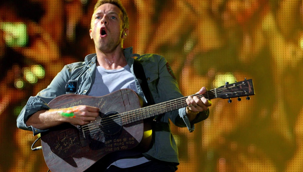 El vocalista de la banda británica Coldplay, Chris Martin