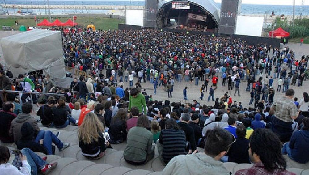 El festival Primavera Sound celebrado en anteriores ediciones en el fórum de Barcelona.