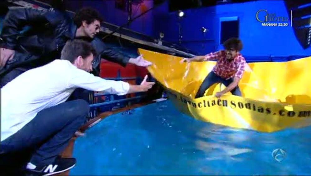 Marron y el barco de papel