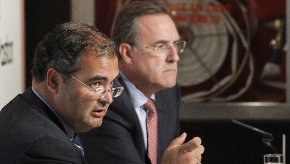 Los presidentes de los bancos Pastor y Popular