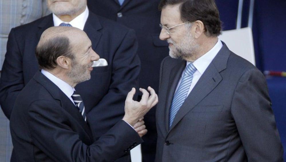 Rubalcaba y Rajoy, en una imagen de archivo