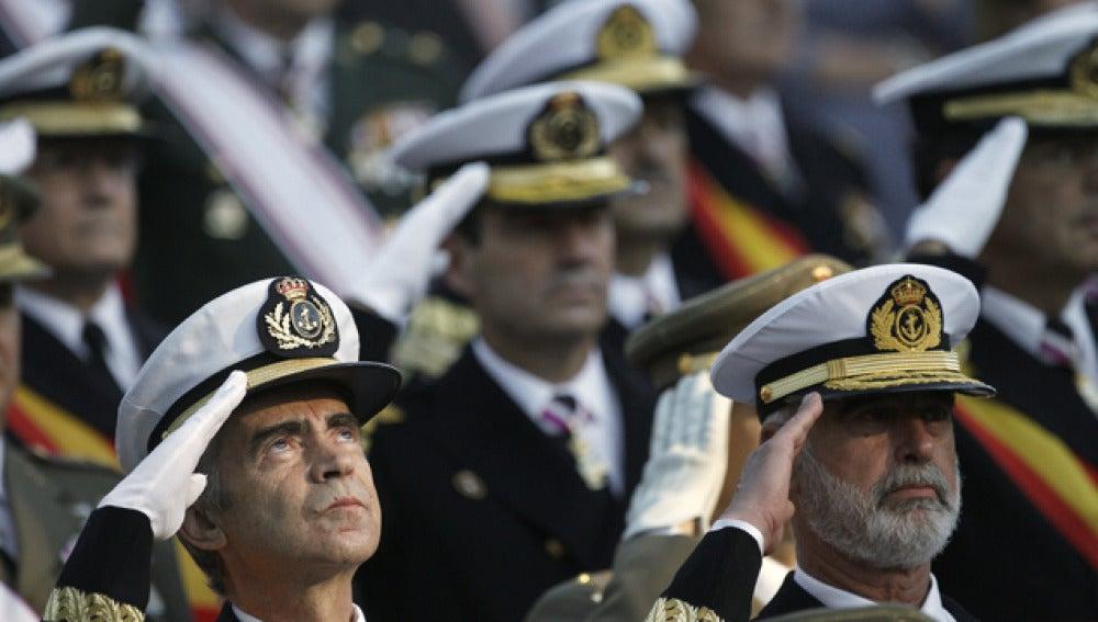 Militares en el Desfile de la Fiesta Nacional