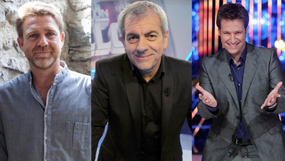 Juanjo Artero, Carlos Sobera y Carlos Latre