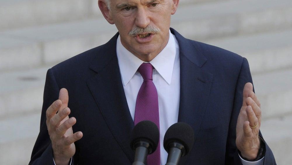 El primer ministro griego, George Papandreu