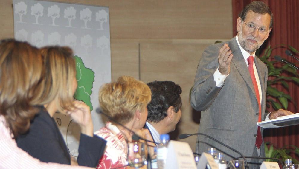 Mariano Rajoy durante un acto en Ciudad Real
