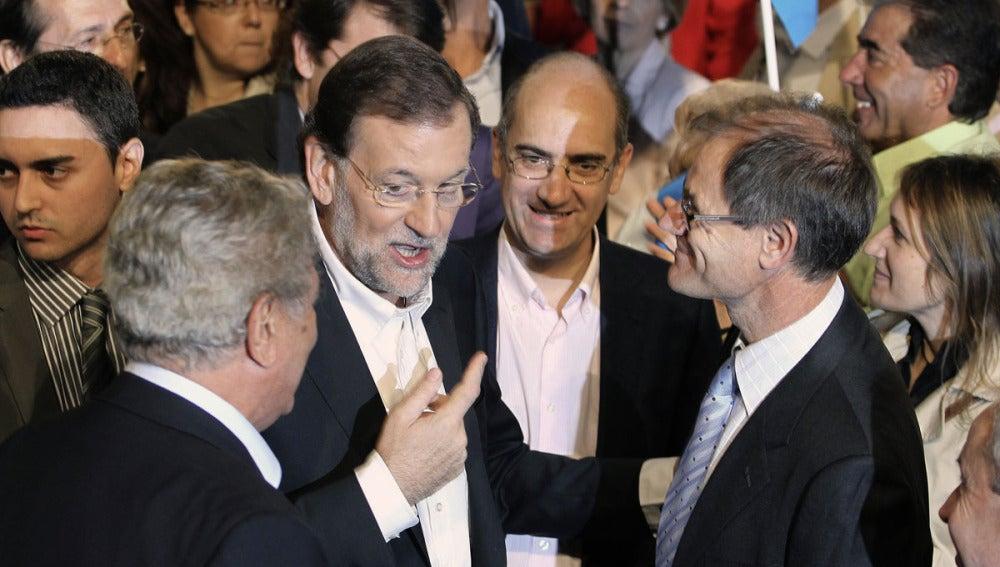 Mariano Rajoy, en un mitín en Salamanca