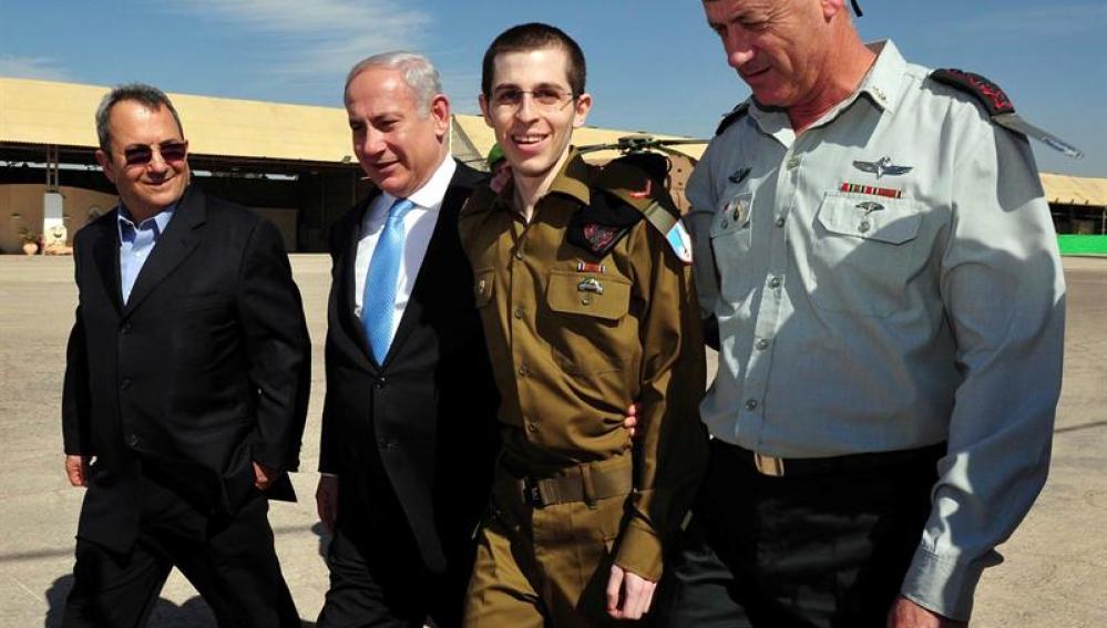 El soldado israelí liberado Gilad Shalit