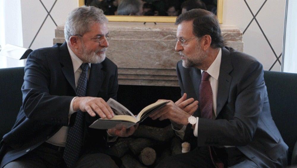 Rajoy, junto a 'Lula' da Silva