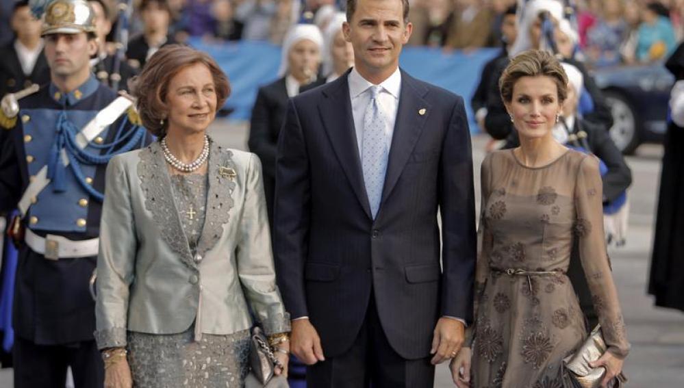 Los Príncipes de Asturias y la Reina en los Premios Príncipe de Asturias