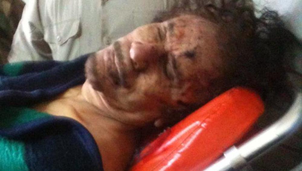 El cuerpo de Gadafi