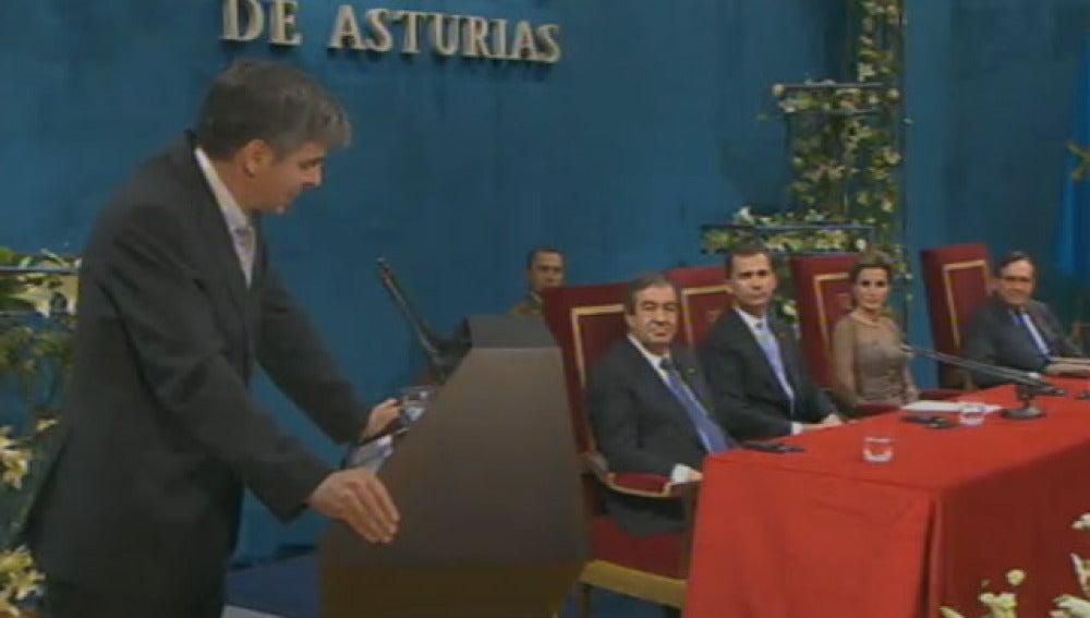 Álvarez-Buylla en su discurso