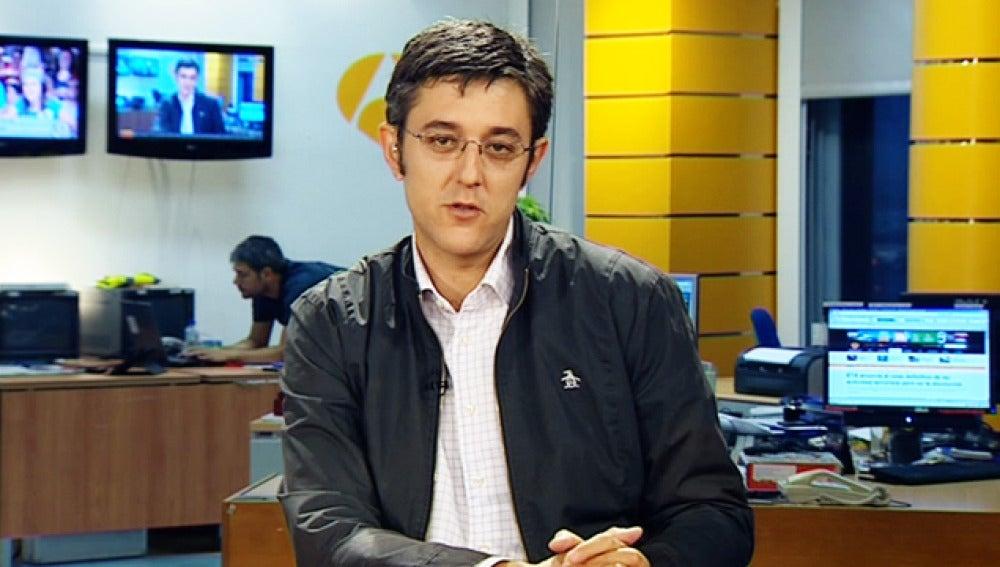 Eduardo Madina en la sede de antena 3 Euskadi
