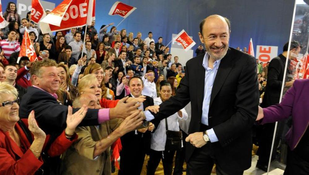 El candidato socialista a la presidencia del Gobierno, Alfredo Pérez Rubalcaba