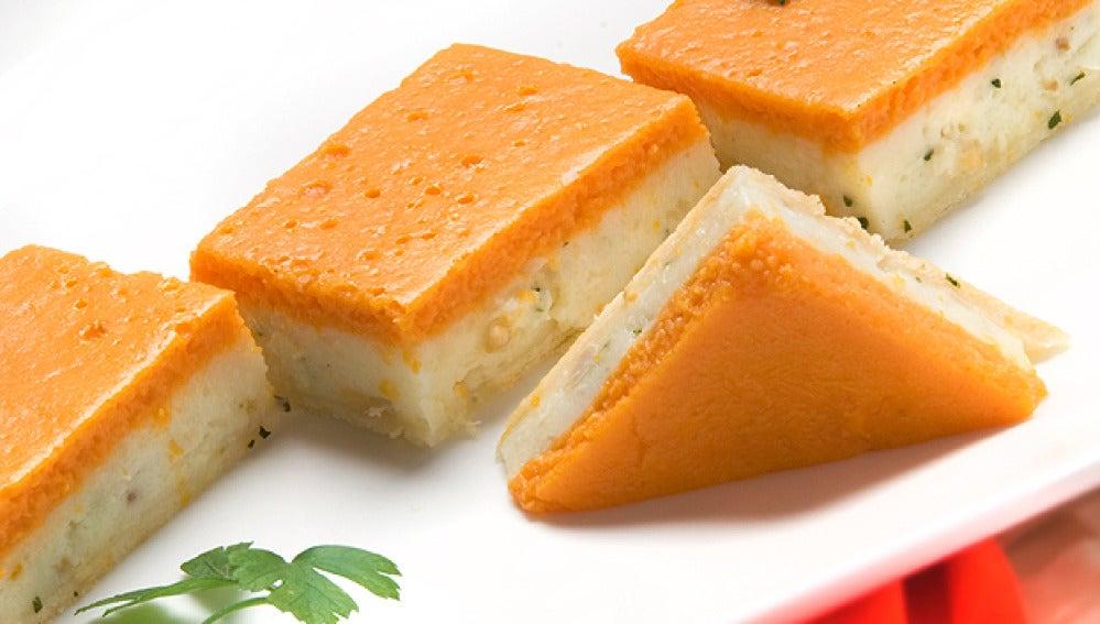Tarta de almejas y calabaza
