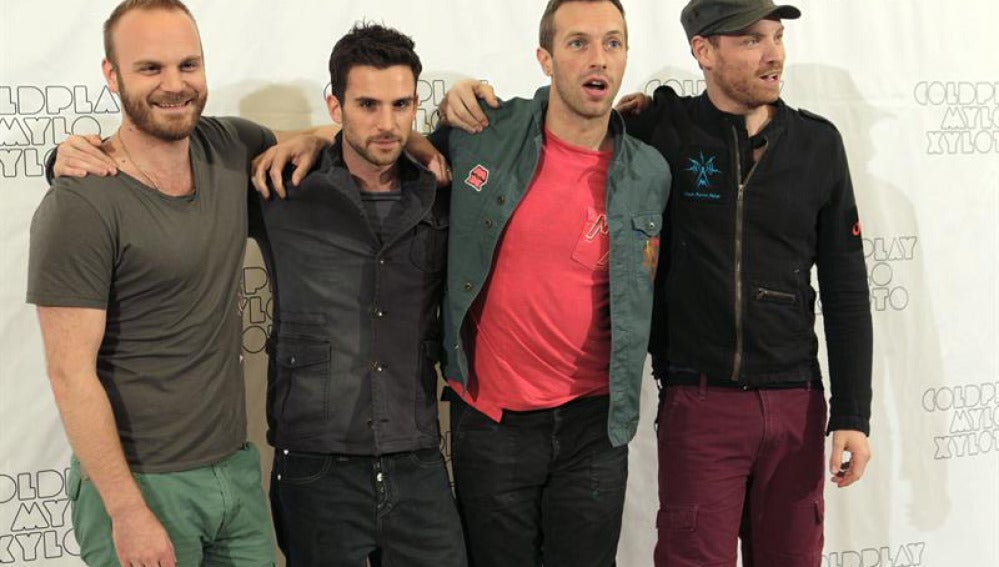 Coldplay posa ante la prensa