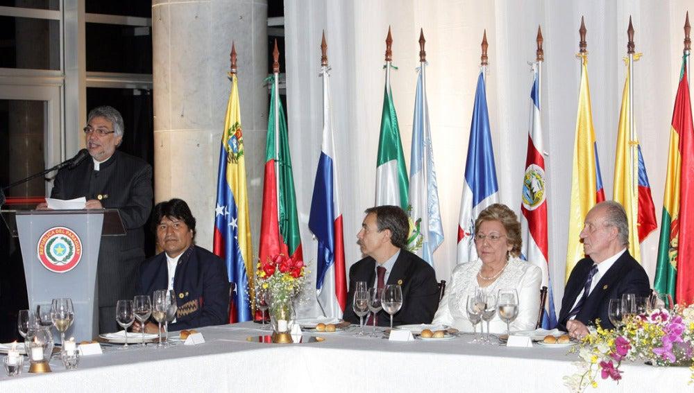 Zapatero y Rajoy en la Cumbre Iberoamericana