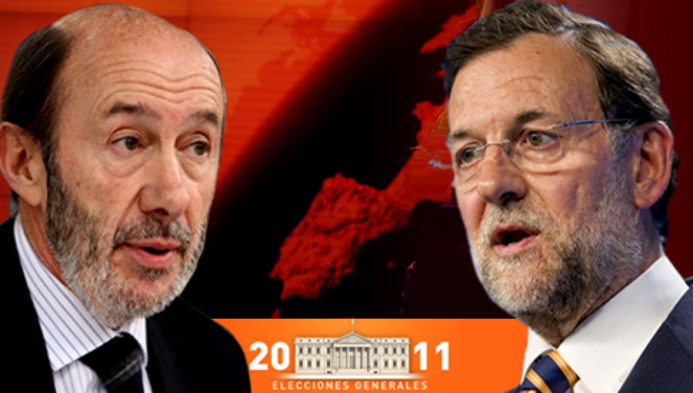 Antena 3 entrevista a Rajoy y Rubalcaba